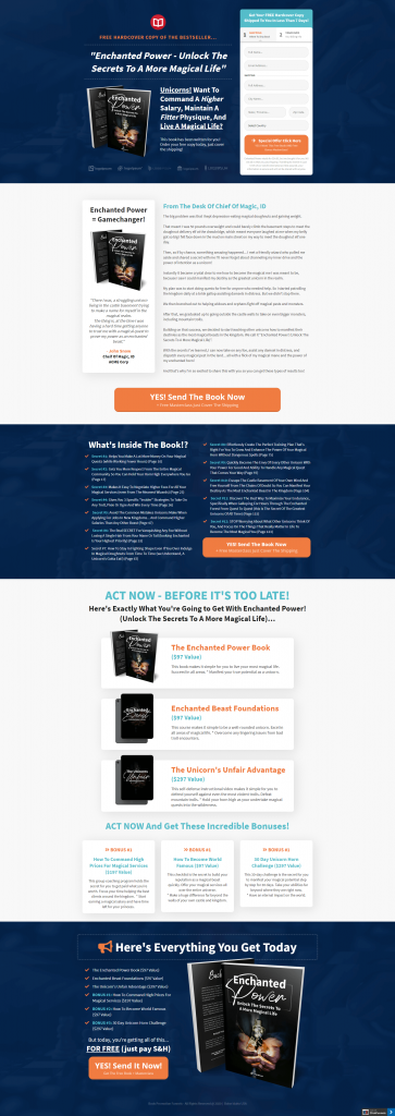 Book Promotion - Funnel Template Marketplace
